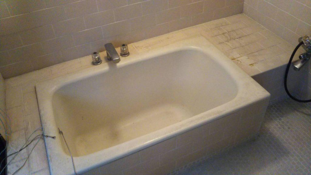 お風呂の掃除前